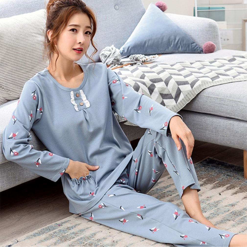 MOXIN Cotton Rich Pyjamas Lounge Wear Long Sleeve Pyjama Set Lounge Pjs , xxl , C
