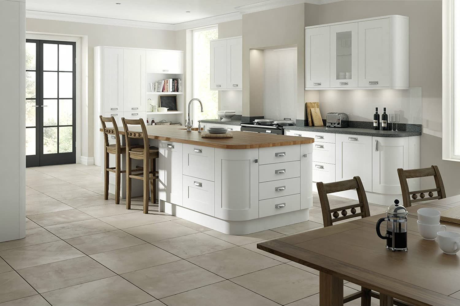 Boston White Super Matt Vinyl Wrapped Replacement Kitchen Cabinet Cupboard Unit Carcass Doors & Drawer Fronts - Edging Tape 22mm Topdoors