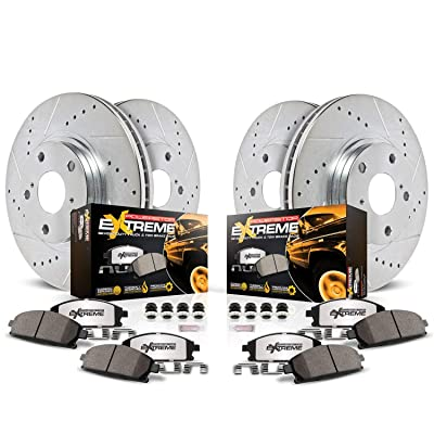 Power Stop K6560-36 Z36 Truck & Tow Front and Rear Brake Kit: Automotive