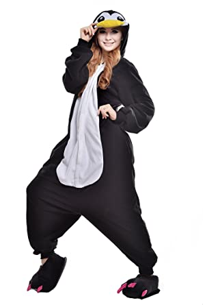 28ddc6920588 Amazon.com  NEWCOSPLAY Adult Unisex Penguin Onesie Pajama Costume  Clothing