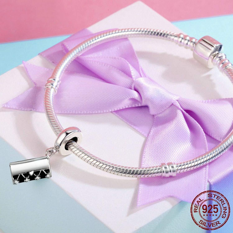 EverReena Beads Fashion Handbag Matching Dangle for Silver Bracelets