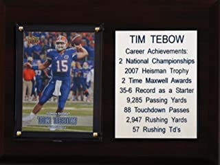 "product image for C&I Collectables NCAA Florida Gators Tim Tebow Career Stat Plaque, 6"" x 8"", Brown"