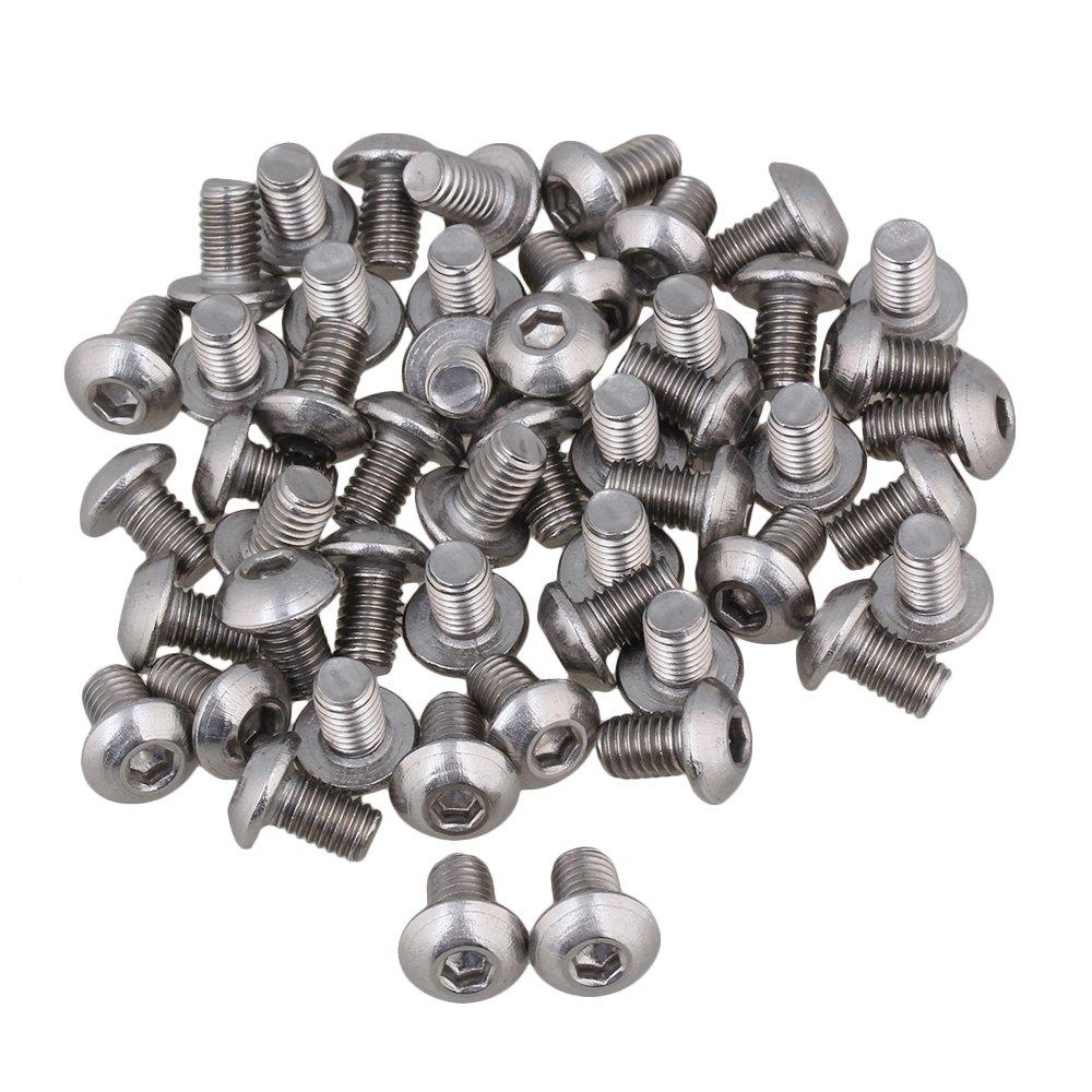 BQLZR Silber metrische Gewinde M5 Linsenkopf Innensechskant Kappe Schrauben Bolt Packung mit 50 BQLZRN12418