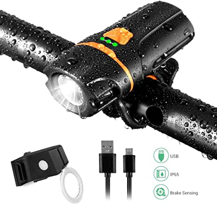 USB Bike Front Light 1200 Lumen IPX6 Waterproof 6 Modes Cycling Light
