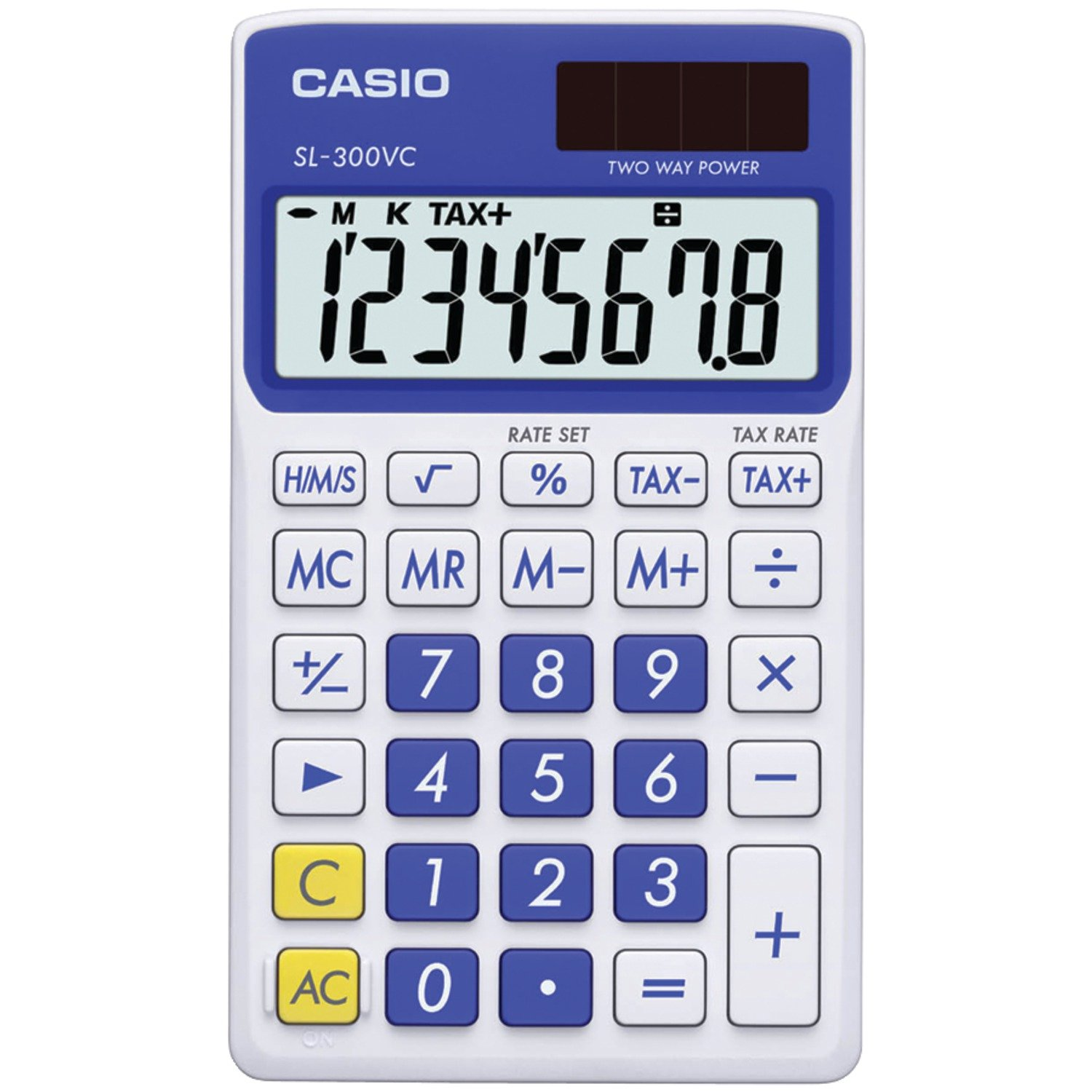 Amazon casio sl 300vc standard function calculator blue amazon casio sl 300vc standard function calculator blue electronics falaconquin