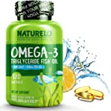 NATURELO Premium Fish Oil Supplement - 1100mg Triglyceride Omega - 3 - One A Day - Best For Heart, Eye, Brain & Joint…