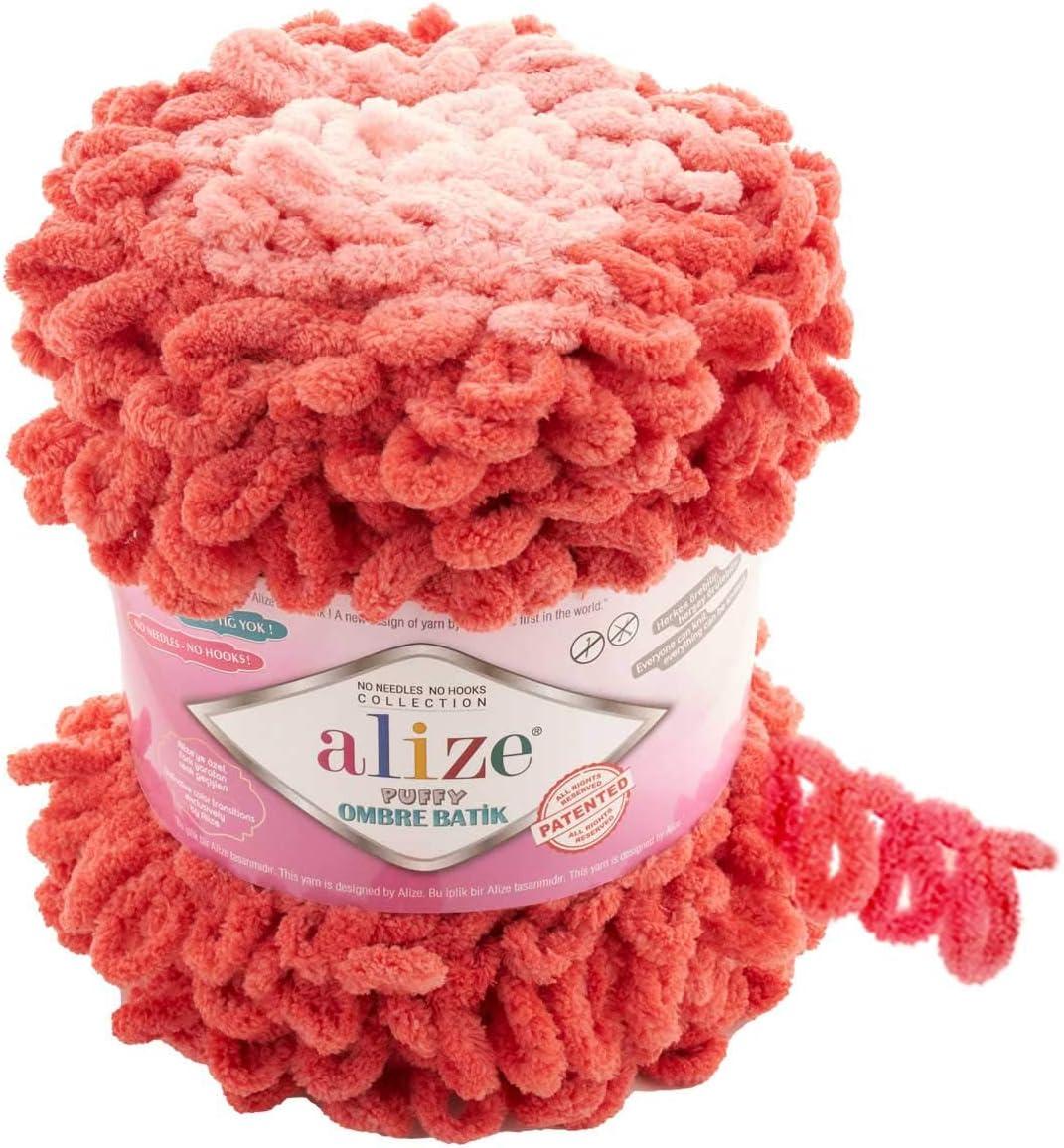 Yarn Alize SOFTY PLUS OMBRE Batik Yarn Plush Yarn Gradient Yarn Bulky Yarn Multicolor Yarn Chunky Yarn Baby Rainbow Yarn Color Mix