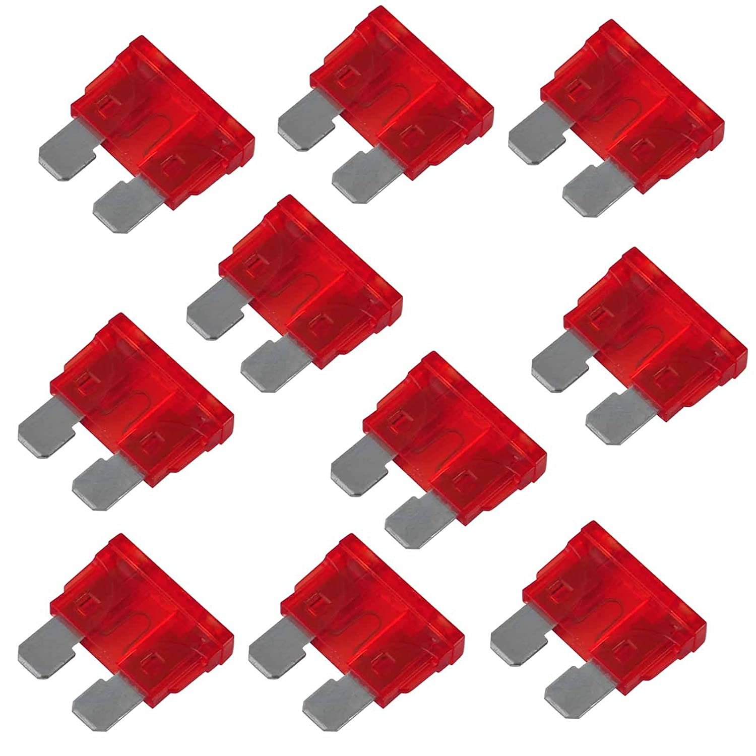 20 Pcs 10A 32V Vehicle Automotive Car Truck SUV Blade Fuse Red