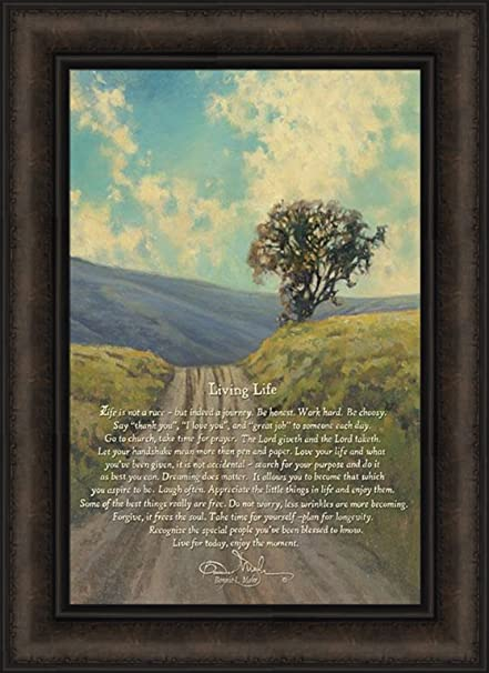Superbe Living Life By Bonnie Mohr 16x22 Tree Hills Dirt Road Life Is A Journey  Inspirational Quote