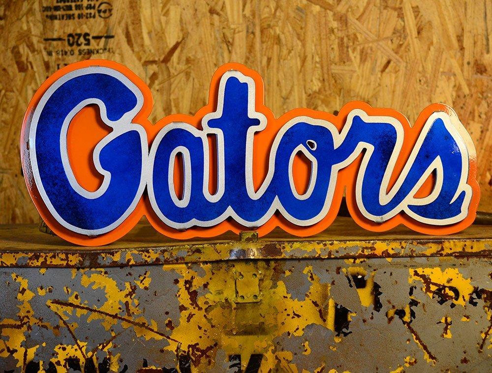 Gear New University of Florida Gators 3D Vintage Metal College Man Cave Art, Large, Orange/Green/Blue by Gear New (Image #3)