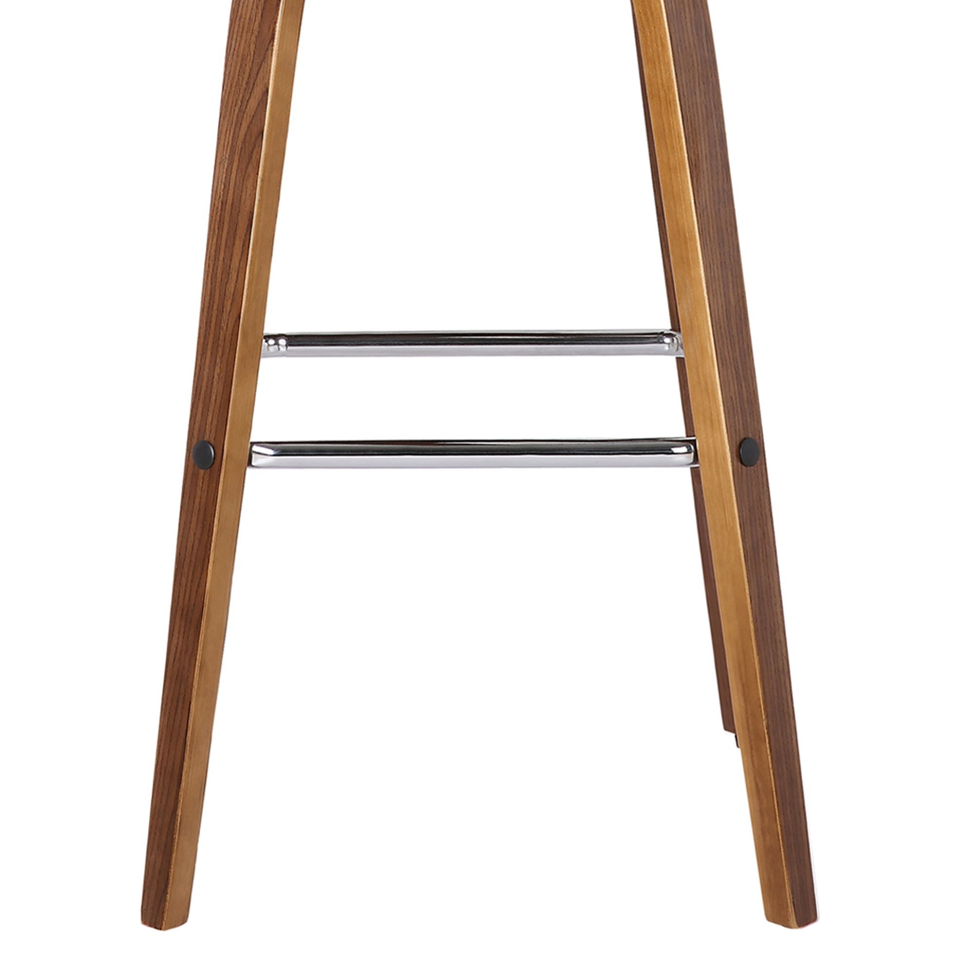 Armen Living LCVIBAGRWA26 Vienna 26'' Counter Height Barstool in Grey Faux Leather and Walnut Wood Finish by Armen Living