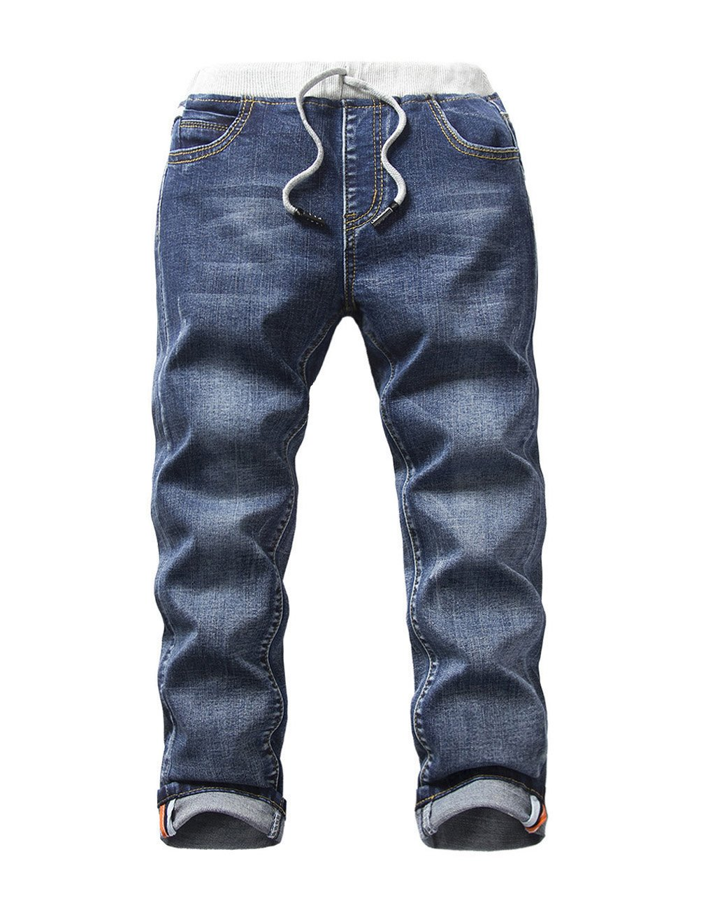 HOLLAGLEE Boys' Premium Skinny Jeans Slim Fit for Toddlers Kids and Big Boys (Beach Boy 114, 7)