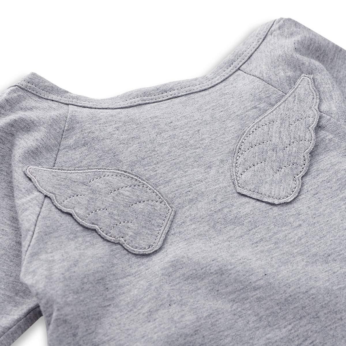 XINXINHAIHE Unisex Infant Baby Spring Cotton Romper Long Sleeve Wings Onesies Jumpsuit