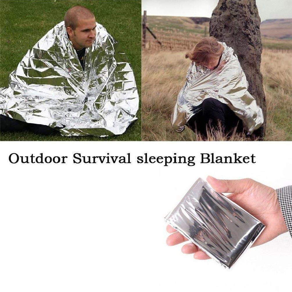 2X Outdoor Emergency Solar Blanket Survival Safety Insulating Mylar Thermal Heat