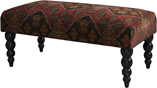 FurnitureMaxx Claire Soft Upholstered Accent Bench – Damascus