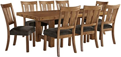 Ashley Furniture Signature Design   Tamilo 9 Piece Dining Room Set    Includes Rectangle Extension