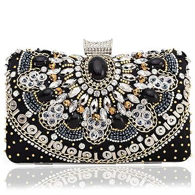 Woman Evening Bag Clutch Crystal Beaded Rhinestones Handbags Bridal Prom  Wedding Party Purses  Handbags  Amazon.com c09018d34e311