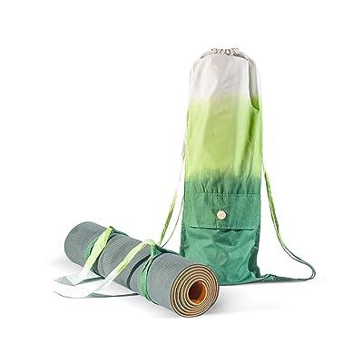 Ensemble de sac tapis de Yoga et Sangle – Pour tous type de tapis pour Yoga – fabrication à la main avec du coton organique – Grand sac pour ranger les objets personnels – Yoga Pilates Gymnase F