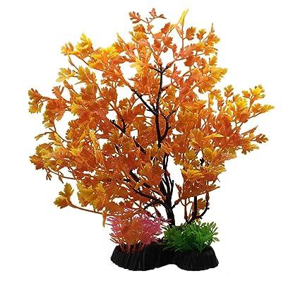 Xiton Plantas Artificiales Acuario Aquascaping Tanque decoración Plantas plásticas pecera decoración Vivid simulación Planta Criatura Acuario