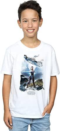 Star Wars niños The Last Jedi Rey Falcon Camiseta