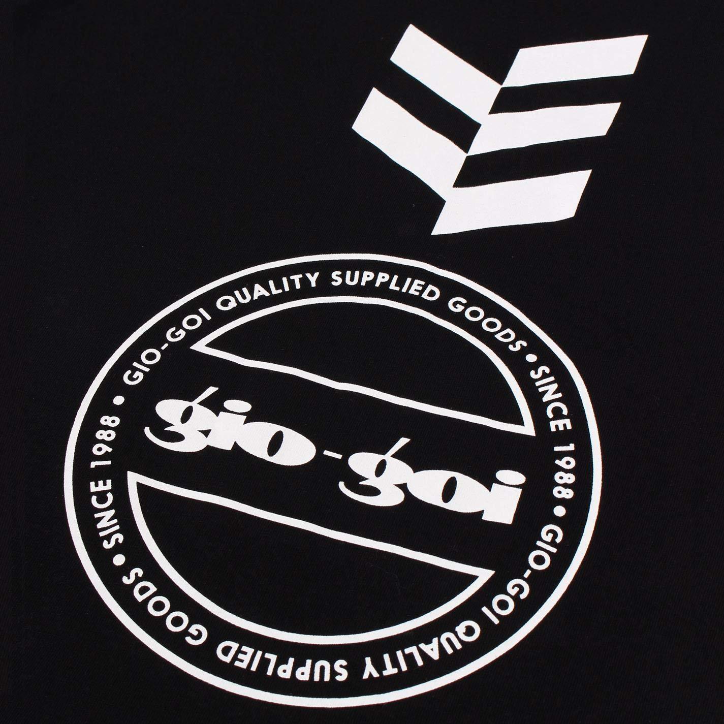 GioGoi Graphic T-Shirt Mens Black Tee Shirt Top