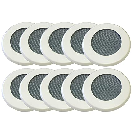 san francisco 87dba 79a92 No Pest Recessed Light Cover Replacement Kit for Outdoor Ceiling Canned  Lighting Fixtures - Includes Mounting Ring, Trim Plate and Screen- Keep Out  ...