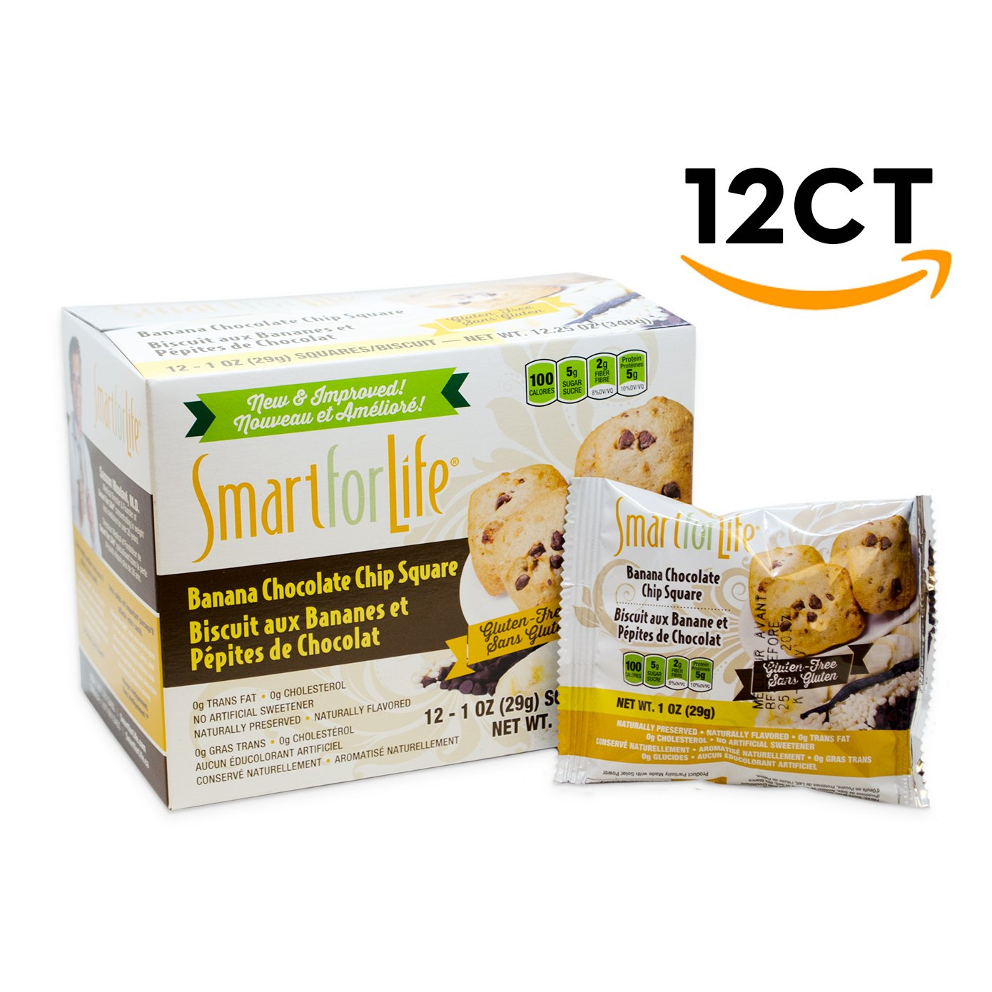 Smart For Life Banana Chocolate Chip Granola Squares, 12-Count by Smart for Life (Image #1)