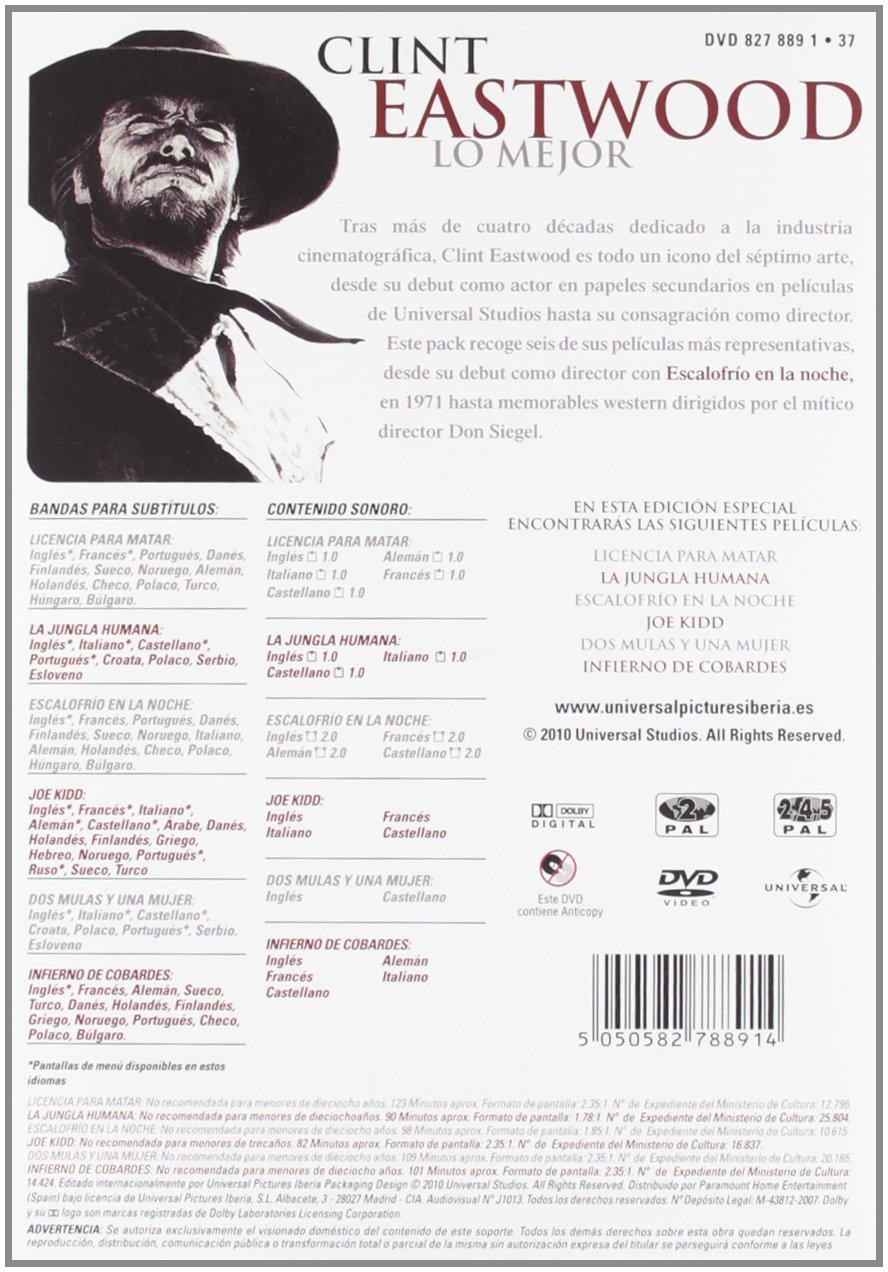 Pack clint eastwood (22 mm) [DVD]: Amazon.es: Clint Eastwood ...
