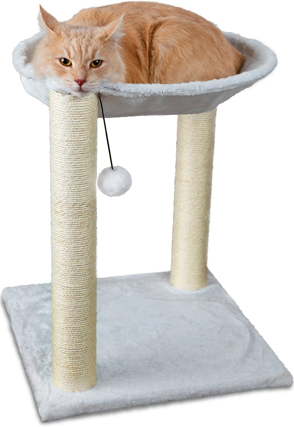 7. Paws & Pals 3-in-1 Cat Scratching Post w/Hammock & Toy