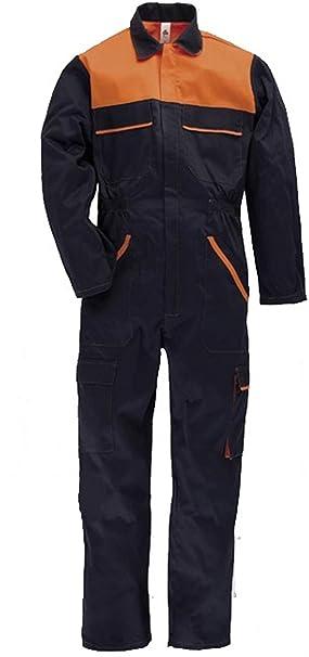 Tuta da Lavoro Multitasche in Poliestere E Cotone - Estate Inverno - Blu  Arancione - Multiuso  Amazon.it  Abbigliamento aa8d3d16ee1