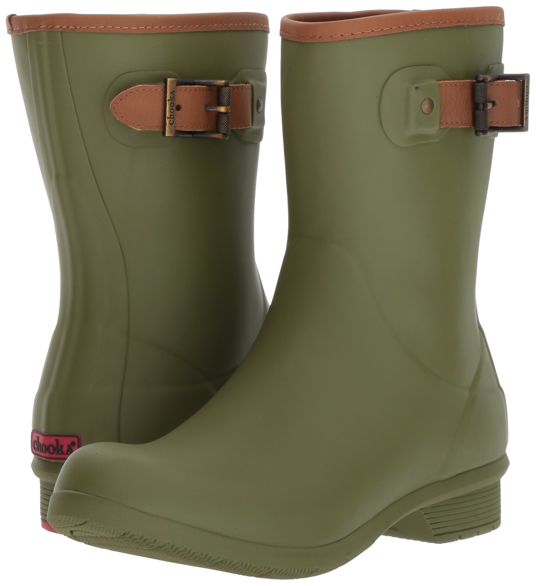Chooka Women's Mid-Height Memory Foam Rain Boot, Olive, 9 M US by Chooka (Image #6)
