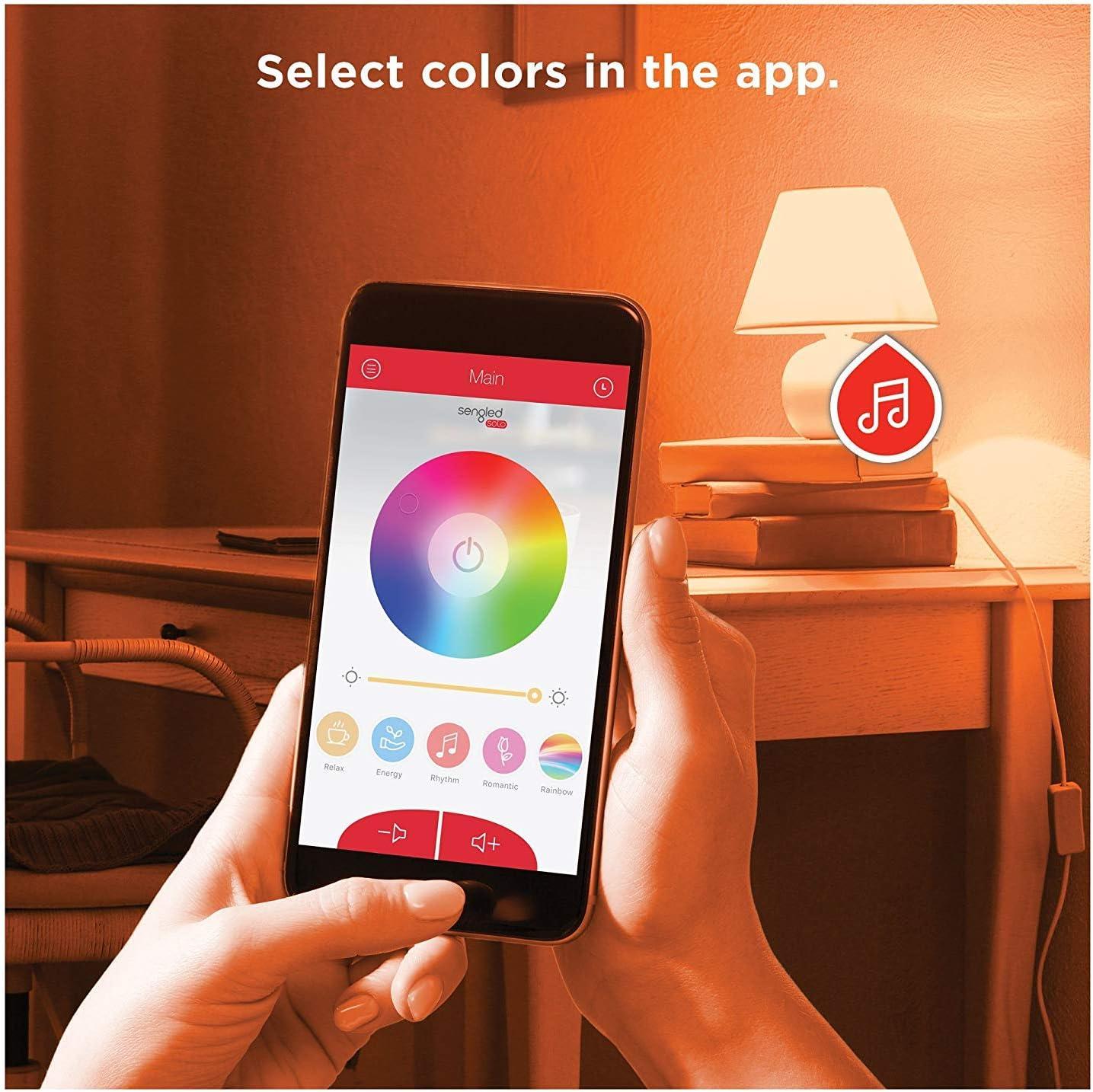 Sengled Solo Color Plus Bombilla LED RGBW con Altavoz Bluetooth ...