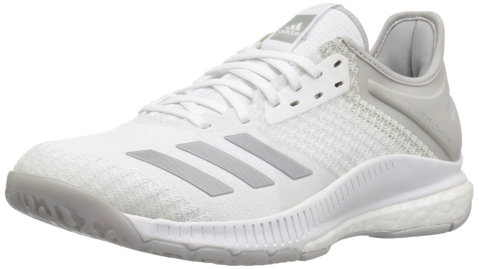 adidas Women's Crazyflight X 2 Volleyball Shoe, White/Silver Metallic/Grey Two, 5.5 M US