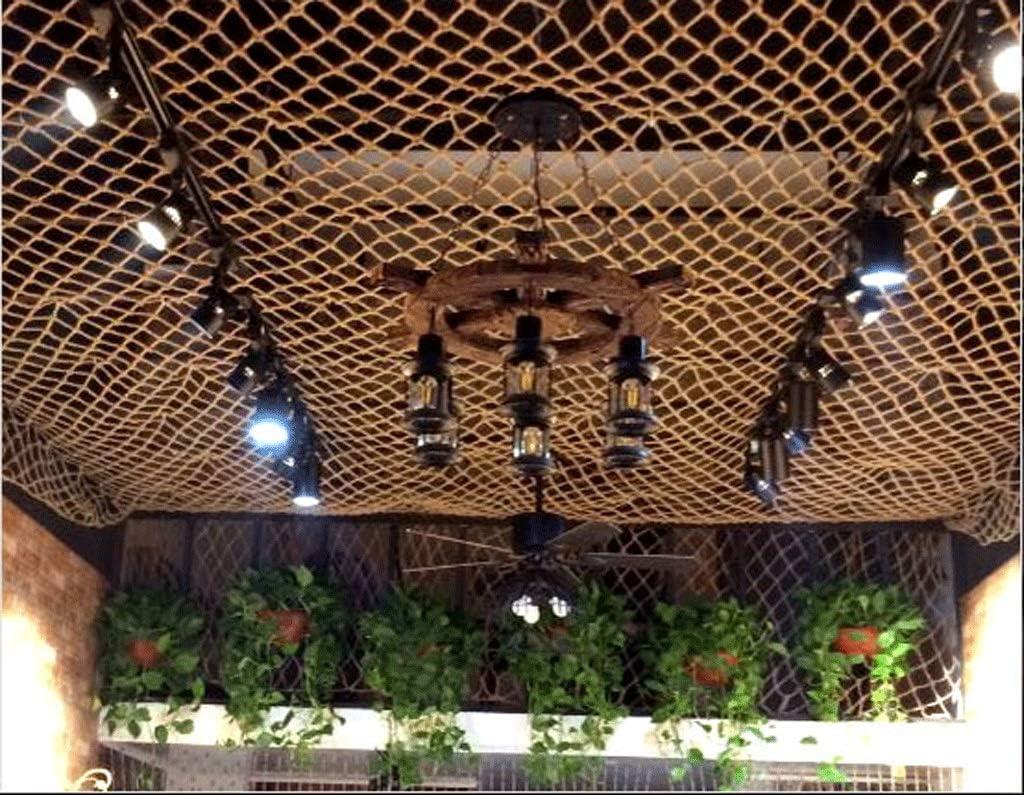 Anquanwang Cuerda De Cáñamo Red De Techo Decoración Cuerda Neta ...