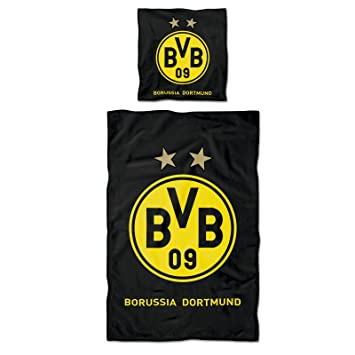 Borussia Dortmund Bvb Bettwäsche Mit Logo Baumwolle Schwarzgelb