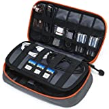 BAGSMART Travel Electronic Accessories Small Thicken Cable Organizer Bag Portable Case - 3 Layer Grey