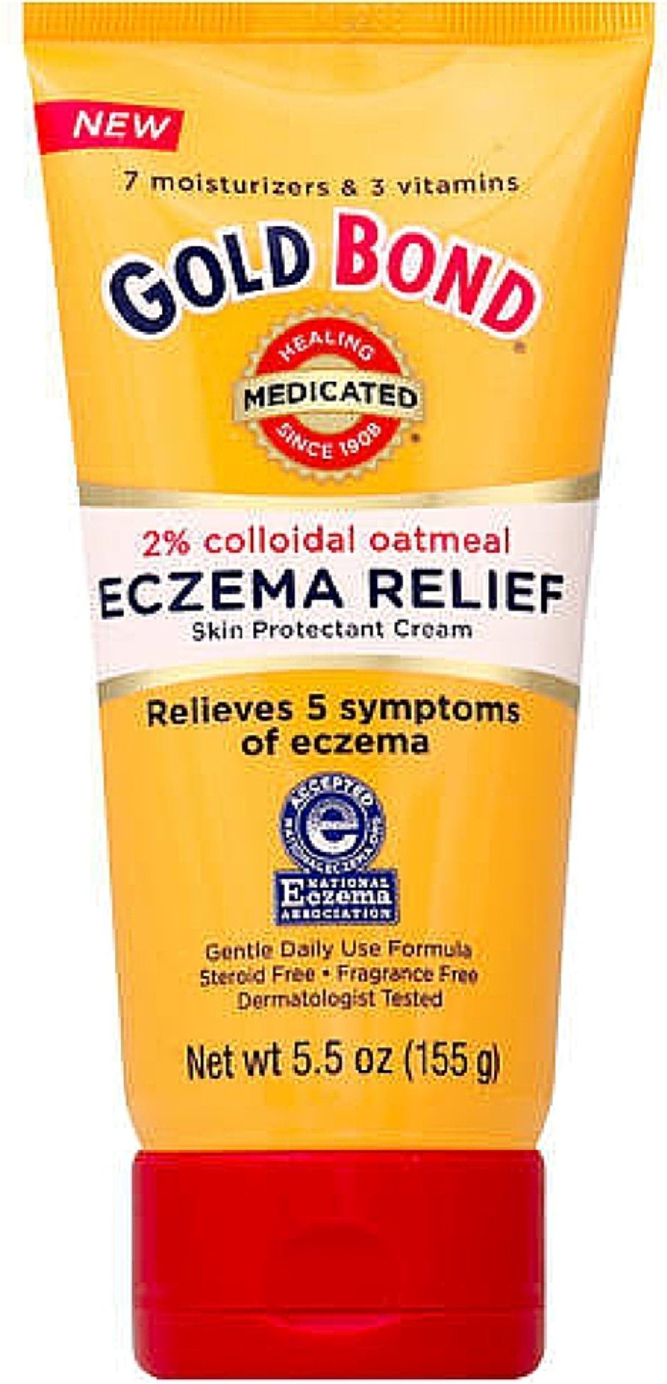 Gold Bond Eczema Relief Cream, 2% Colloidal Oatmeal, 5.5 oz, Pack of 2 by Gold Bond