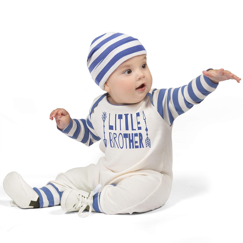 0fb851986cad Amazon.com  Tesa Babe Little Brother Romper   Hat Set for Newborn Baby  Boys