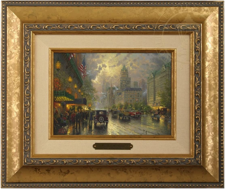 /Brushwork Thomas Kinkade New York 12.5Lx10.5Hx1.25W Fifth Avenue/ Gold Frame