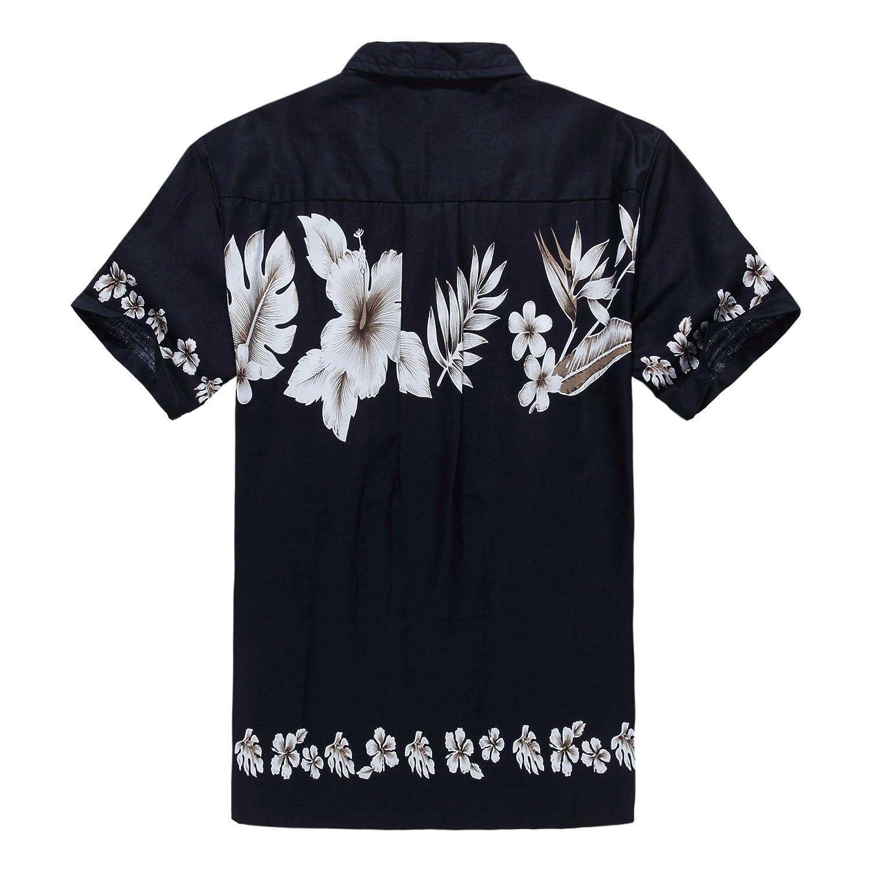 Hombres Aloha camisa hawaiana en Hibisco cruzado Azul Marino: Amazon.es: Ropa y accesorios