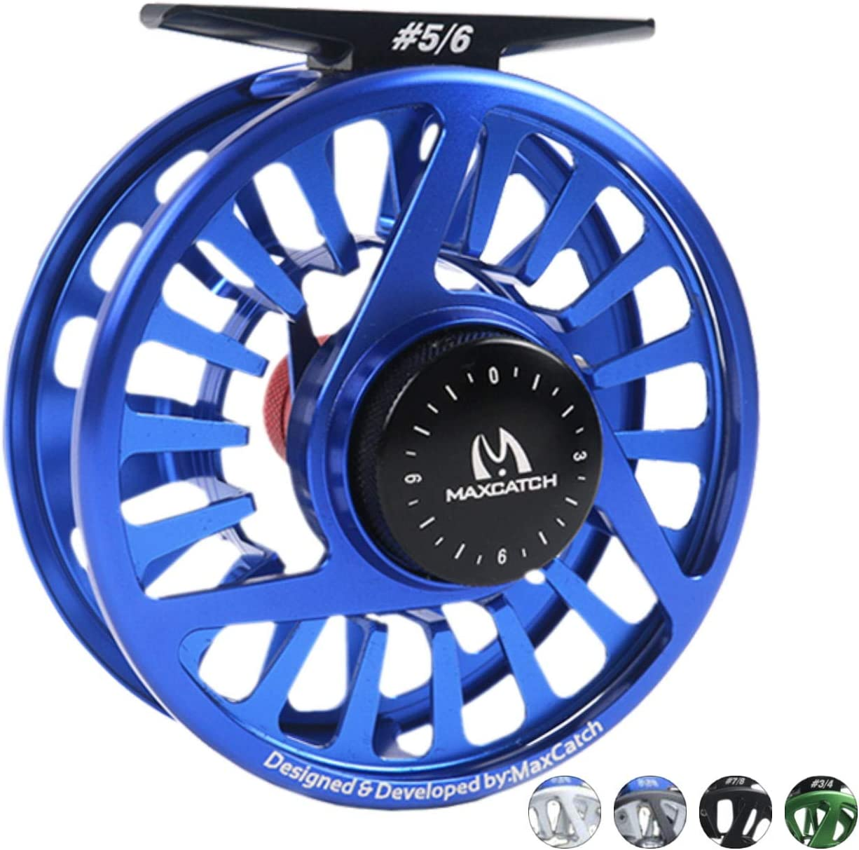 M MAXIMUMCATCH Maxcatch Fly Fishing Reel with CNC-machined Aluminum Body Avid Series Best Value – 1 3, 3 4, 5 6, 7 8, 9 10 Weights Black, Green, Blue, Silver, Black Silver