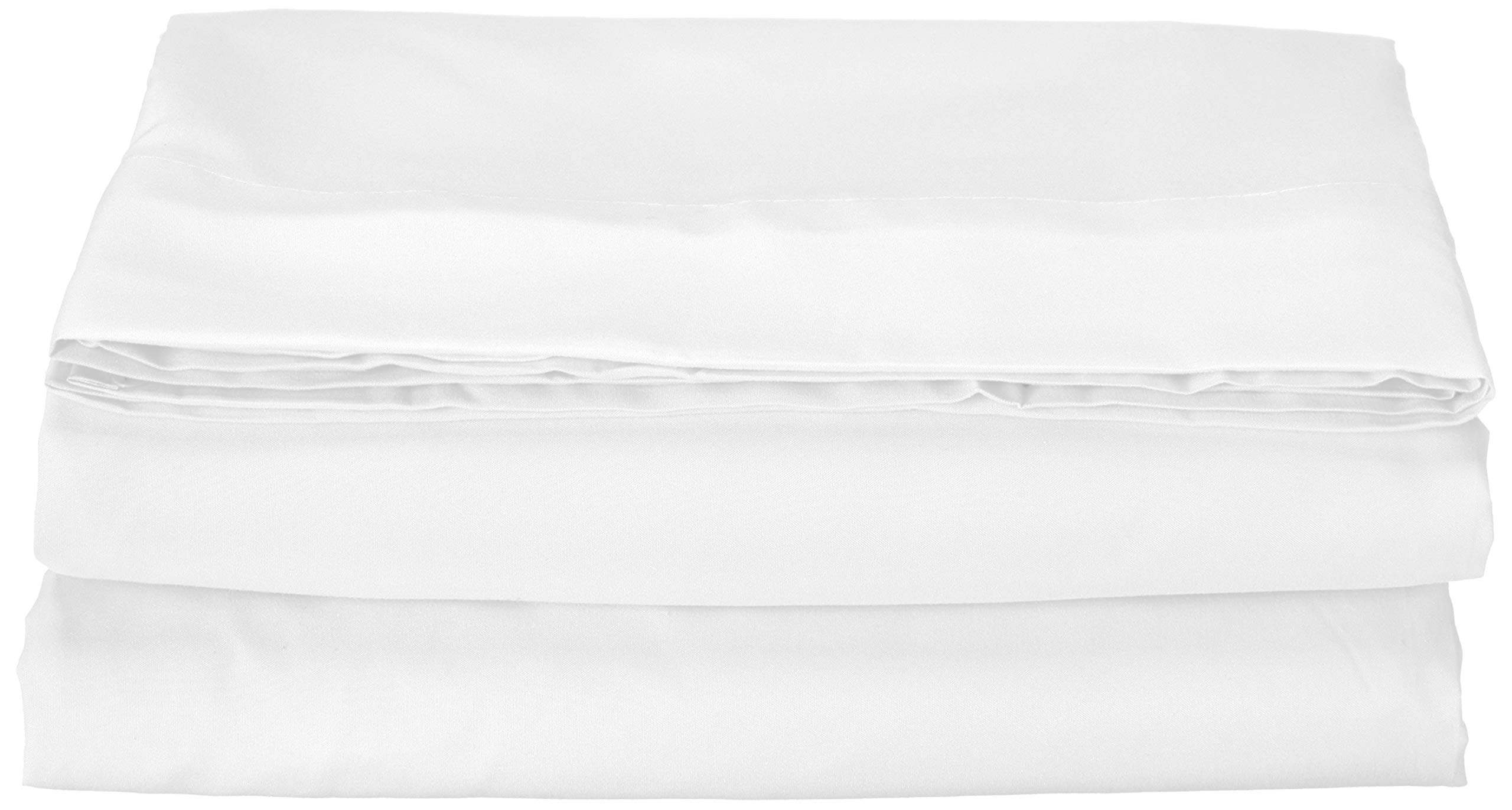 Elegance Linen Hospitality Special Treatment Construction Luxurious Ultra Soft White Single Flat Sheet, Queen