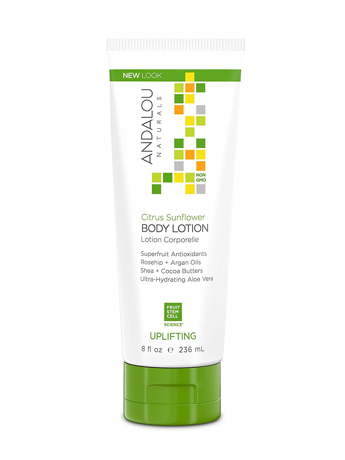 Andalou Naturals Citrus Sunflower Uplifting Body Lotion, 8 Ounce
