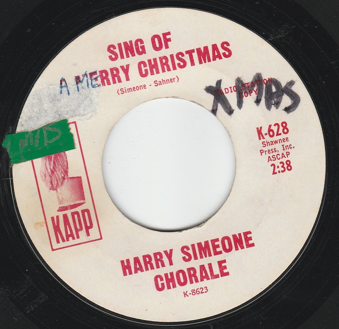 Harry Simeone Chorale - 45vinylrecord Sing Of A Merry Christmas/O ...