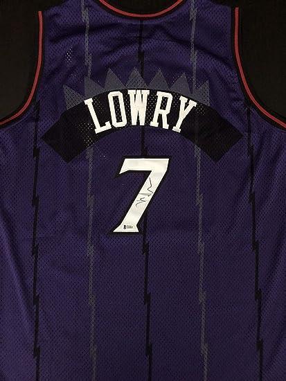 half off 7d5fc 56279 Kyle Lowry Autograph Autographed Signed Toronto Raptors ...