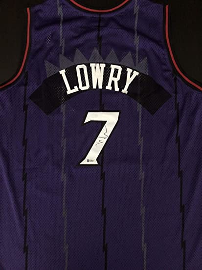 208fc644987 Kyle Lowry Autograph Autographed Signed Toronto Raptors Throwback ...