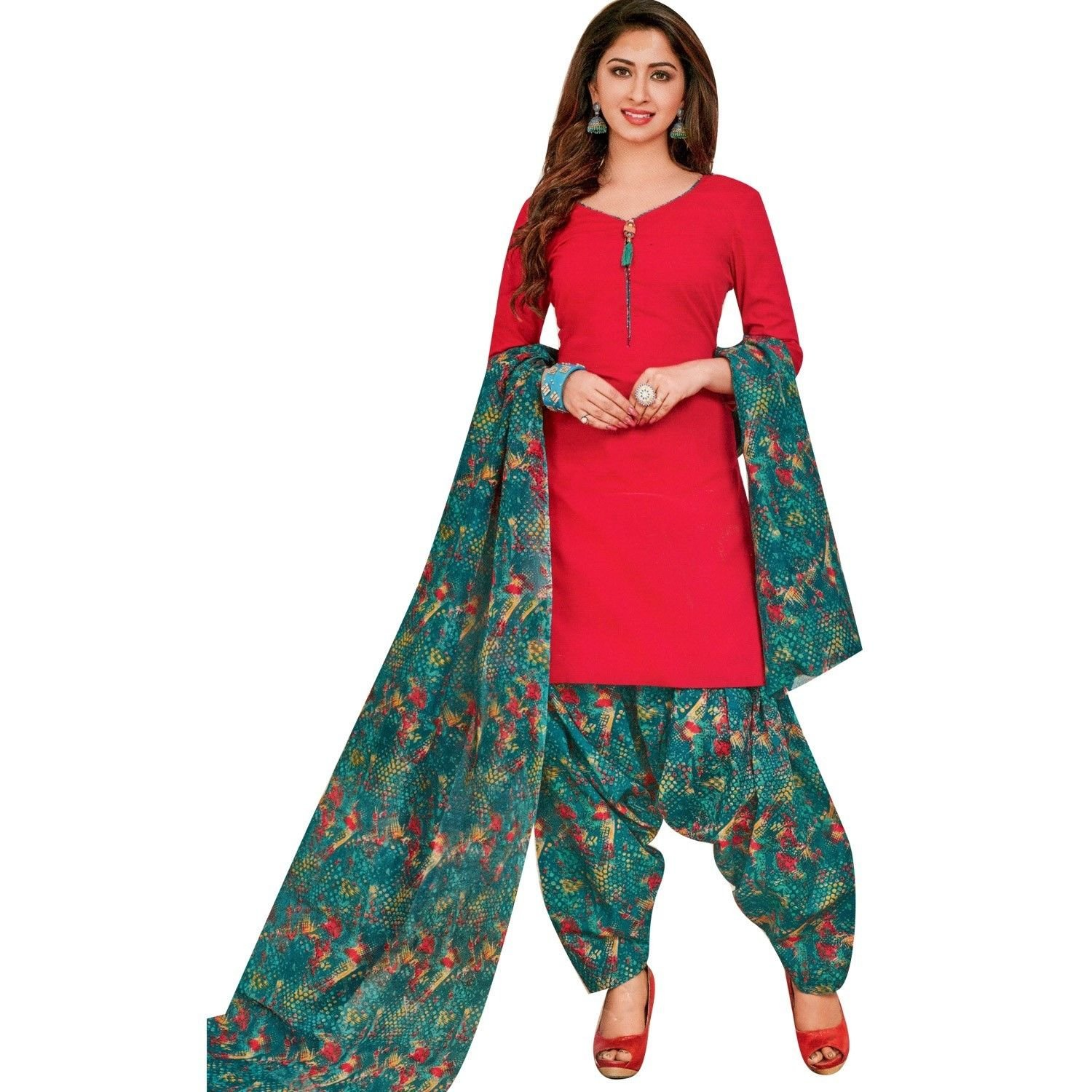 6d55ce216f Ready to wear Cotton Printed with Patiala Salwar Kameez Indian Ethnic  Pakistani Salwar Suit Readymade at Amazon Women's Clothing store: