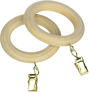 Curtains Ideas 2 inch curtain rings with clips : Amazon.com: Wood Rings for 2 Inch Wood Poles:Walnut: Home & Kitchen