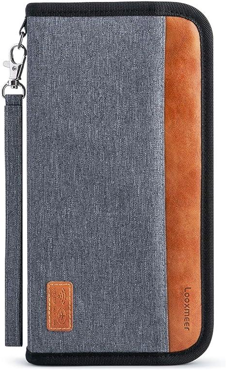 Porte-Document Passeport Carte de Cr/édit Tout-En-Un Grand Sac de Voyage pour Porte-Monnaie