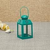 Home Centre Salsa Rectangular Floral Motif Lantern - Blue